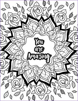 Printable Adult Coloring Pages Quotes Motivational