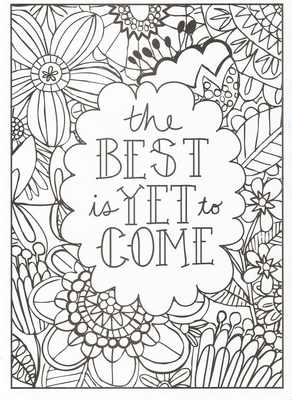 Get This Printable Adult Coloring Pages Quotes The Best ...