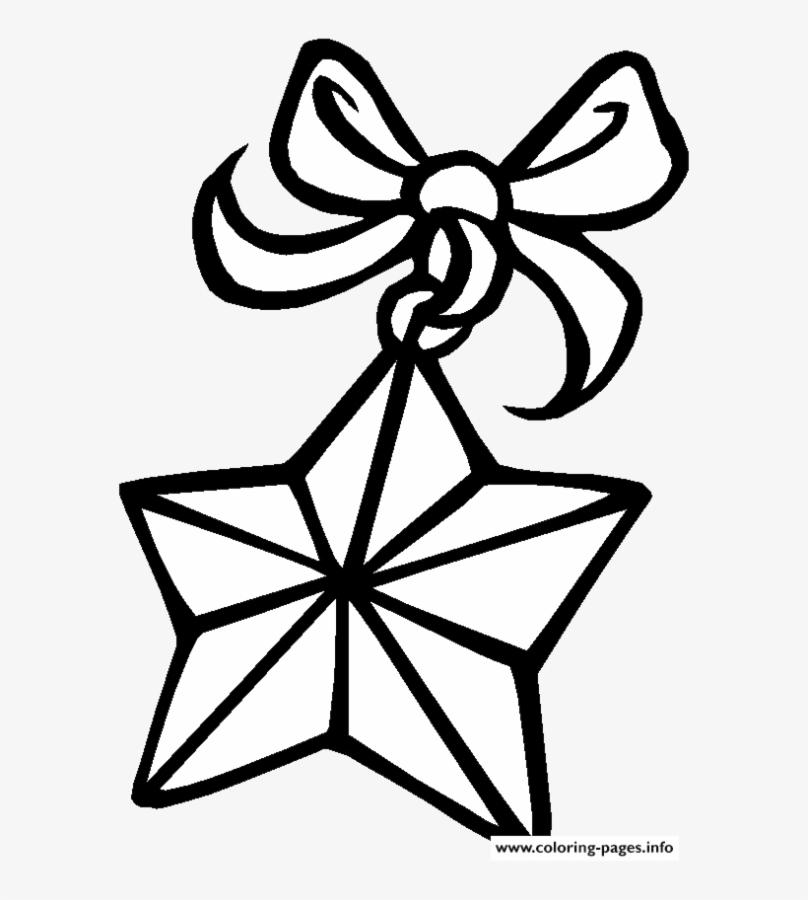 Star Coloring Pages A Flying Star with Ribbon