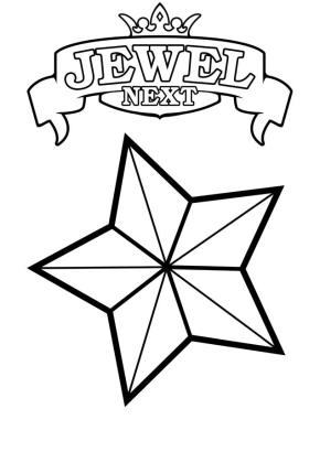 Star Coloring Pages Next Jewel Star