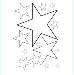 Star Coloring Pages Preschool Printable