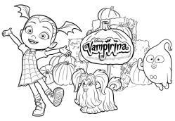Vampirina Coloring Pages Disney Junior Printable