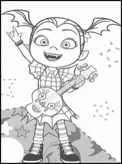 Vampirina Coloring Pages Vampirina Playing Guitar