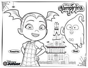 Vampirina Coloring Pages Vampirina and Demi