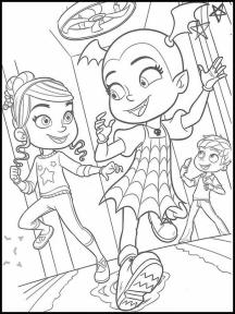 Vampirina Coloring Pages Vampirina and Friends Playing Together