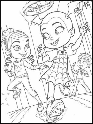Vampirina Coloring Pages Vampirina and Friends Playing Together