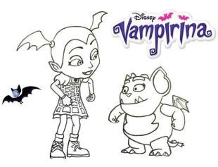 Vampirina Coloring Pages Vampirina and Gregoria