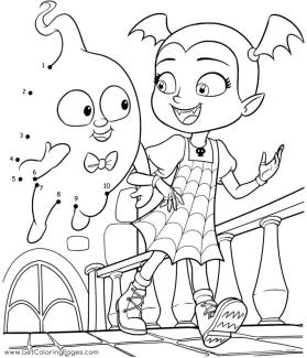 Vampirina Coloring Pages Vampirina and the Ghost Connect the Dot