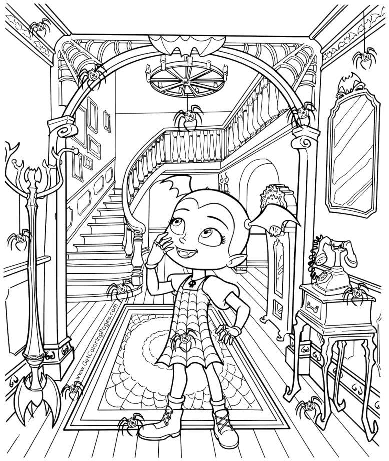 Vampirina Coloring Pages Vampirina in An Old Castle