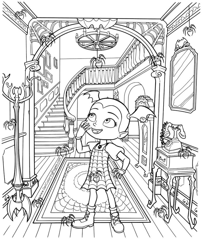 Vampirina Coloring Pages Vampirina in An Old Castle
