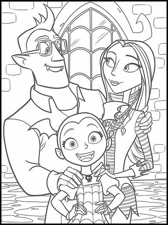 Vampirina Coloring Pages Vampirina with Mom and Dad