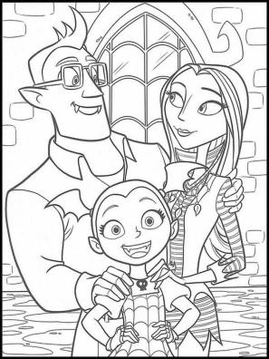 Vampirina Coloring Pages Vampirina with Mom and Dad