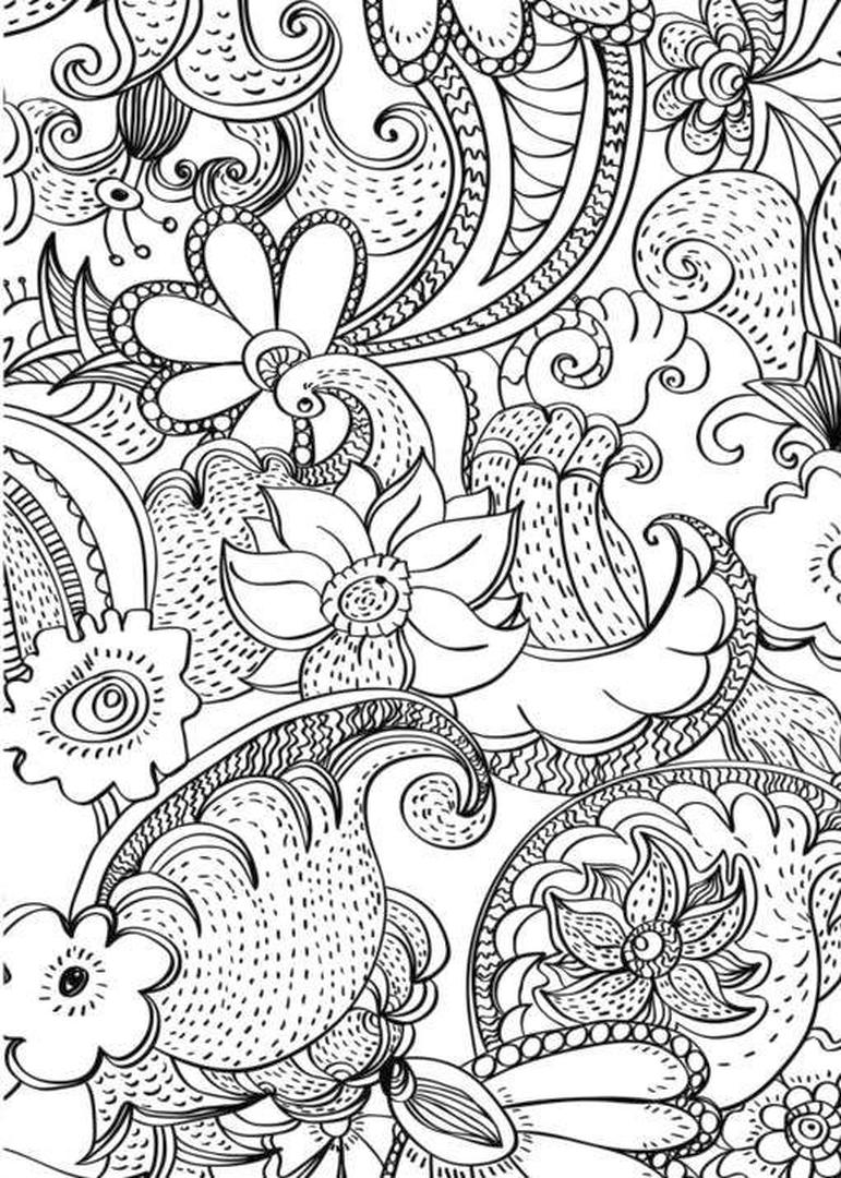 Adult Coloring Pages Patterns Floral Printable 6yhb