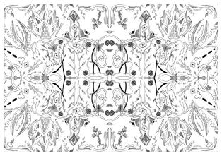 Adult Coloring Pages Patterns Vegetal and Floral 3nbm