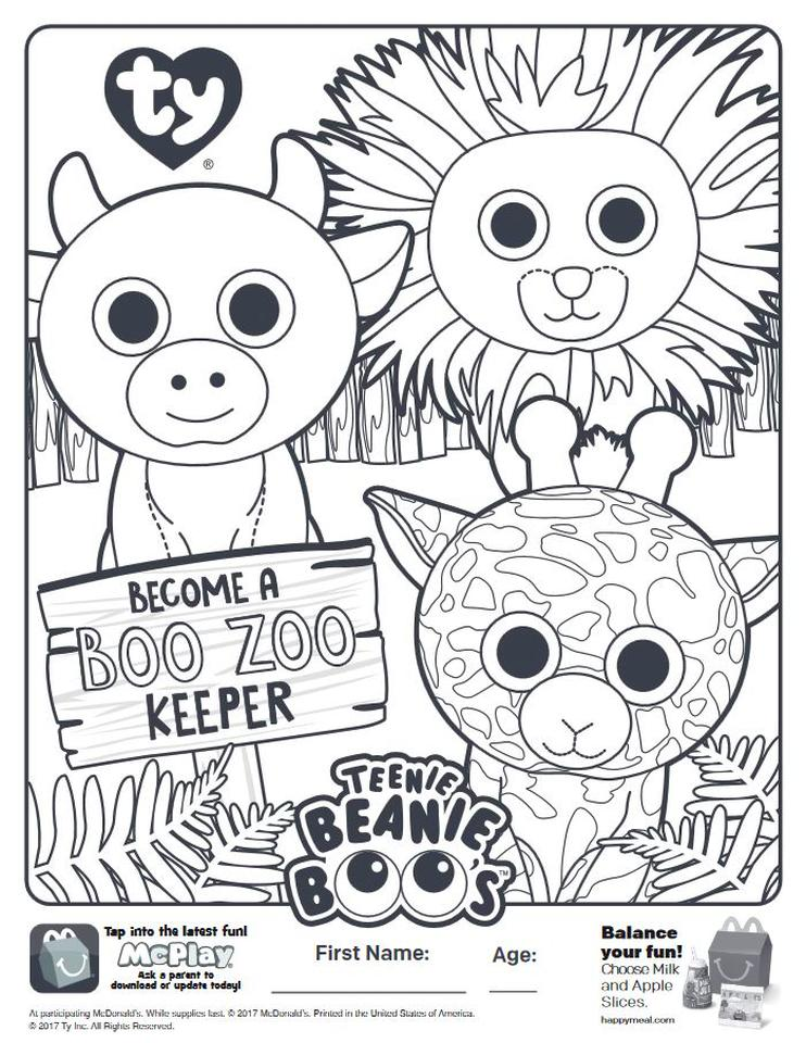 20+ Free Printable Beanie Boo Coloring Pages - EverFreeColoring.com