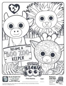 Boo Zoo Keeper Beanie Boo Coloring Pages pol5