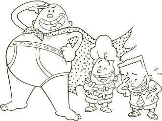 Captain Underpants Coloring Pages 002r