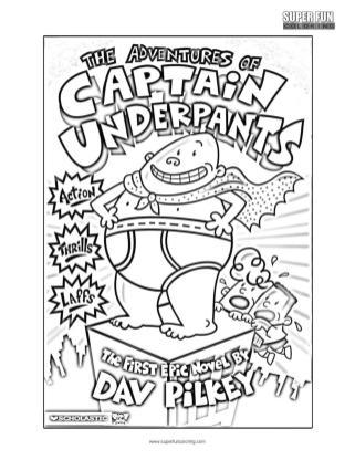 Captain Underpants Coloring Pages Free 775c