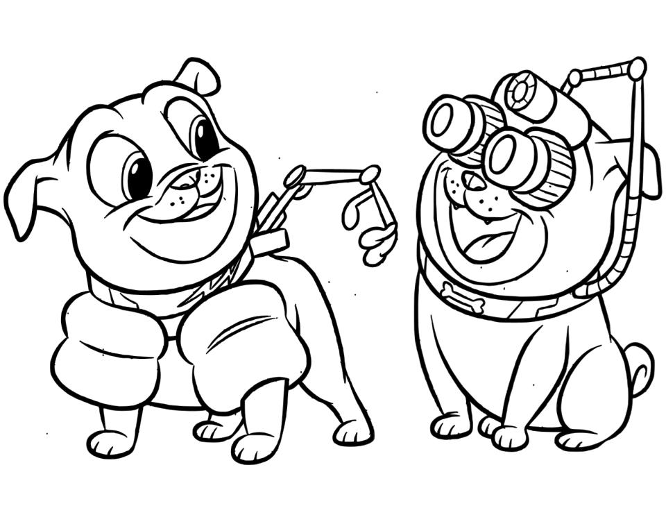 Puppy Dog Pals Coloring Pages jui3