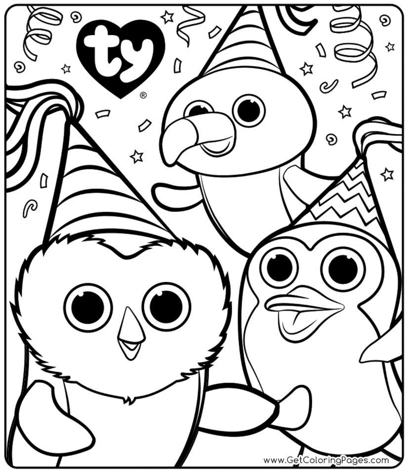 - Ty Beanie Boo Coloring Book Haramiran