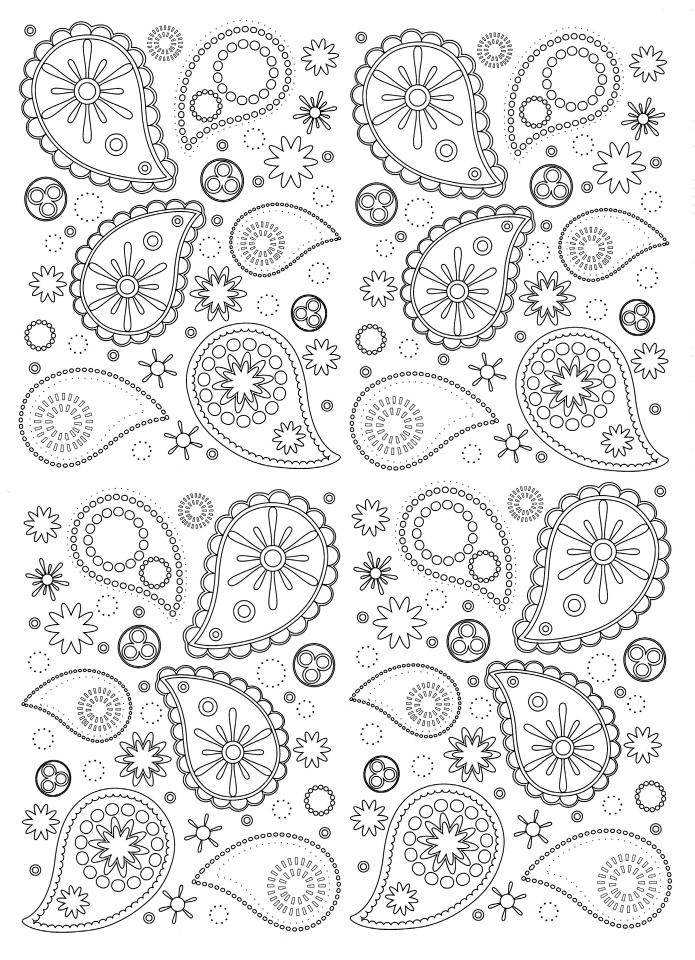 Adult Coloring Pages Paisley 2mtp