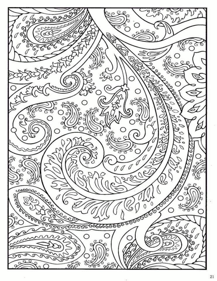 Adult Coloring Pages Paisley Free 1idk