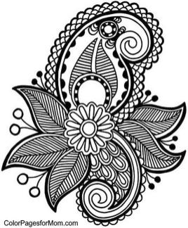 Adult Coloring Pages Paisley Free 4spm
