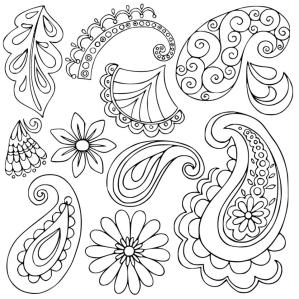 Adult Coloring Pages Paisley Printable 3epp