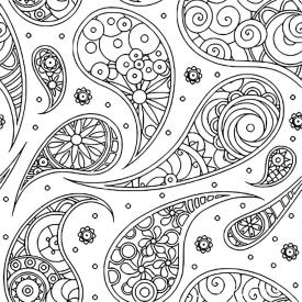 Adult Coloring Pages Paisley Printable 7fps