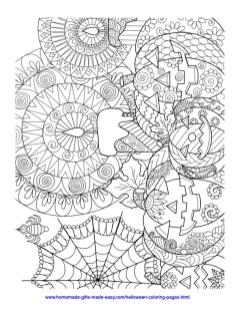 Adult Halloween Coloring Pages Candles and Pumpkins 4cap
