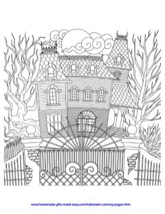 Adult Halloween Coloring Pages Ghost House 9ghh