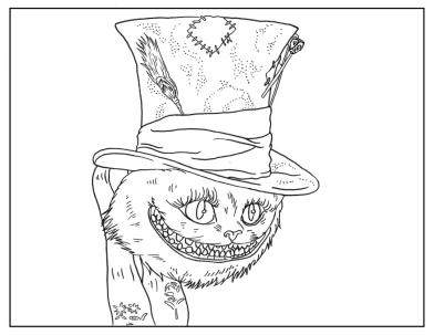 Adult Halloween Coloring Pages Scary Cat 8scc