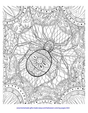 Adult Halloween Coloring Pages Spider Pattern 8spd