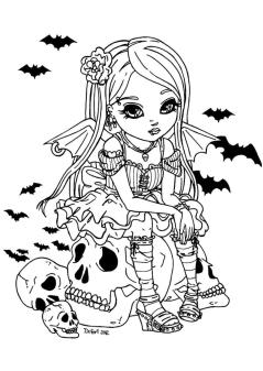 Adult Halloween Coloring Pages Vampire Girl 5vpg