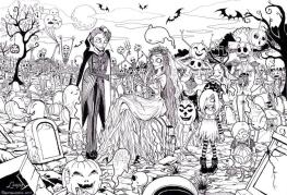 Adult Halloween Coloring Pages Zombies 1zmb