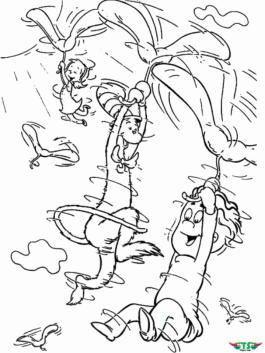Cat In The Hat Coloring Pages Dr. Seuss Printable for Kids 446k
