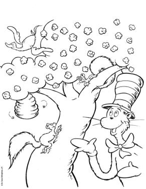 Cat In The Hat Coloring Pages Printable 4gtv