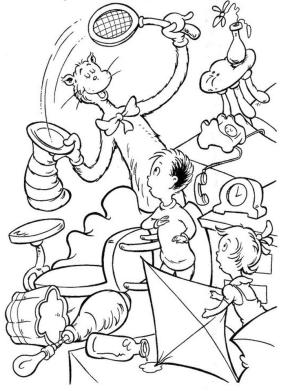 Cat In The Hat Coloring Pages for Kids 0jun