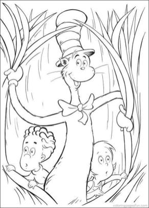 Cat In The Hat Coloring Pages for Kids 8pko