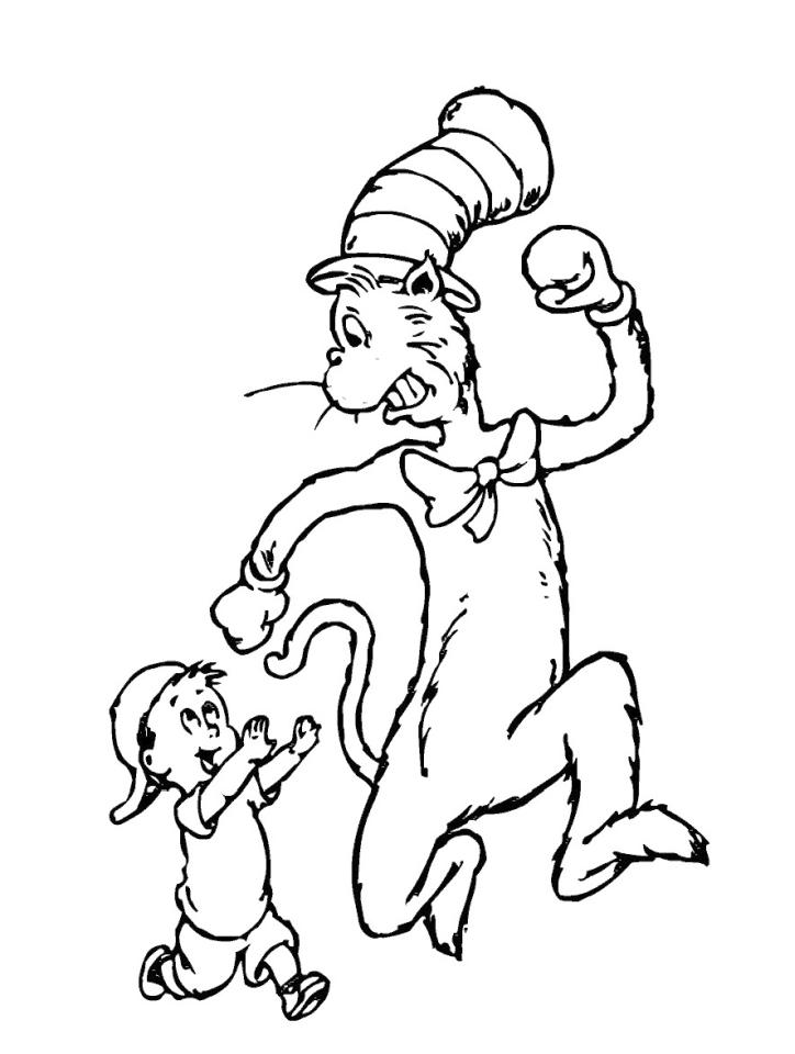 Dr. Seuss Cat In The Hat Coloring Pages 5ilk