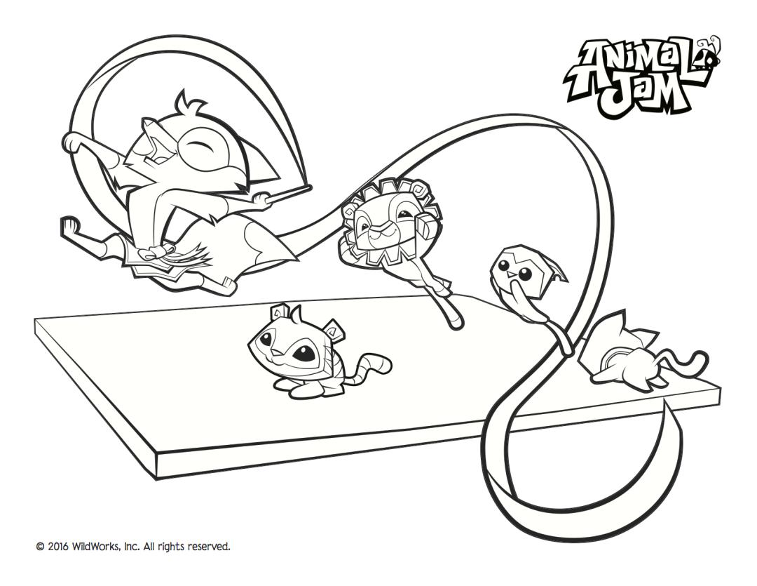 Gymnastic Animal Jam Coloring Pages to Print 4gym