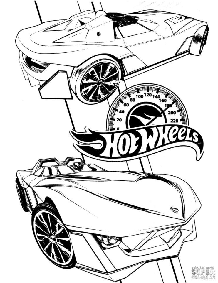 Hot Wheels Coloring Pages 7mph
