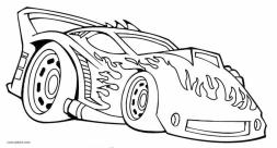 Hot Wheels Coloring Pages Free for Kids 2wrd