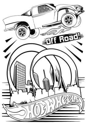 Hot Wheels Coloring Pages Printable 4dbc