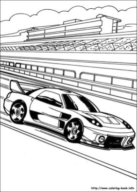 Hot Wheels Coloring Pages for Kids 4wni