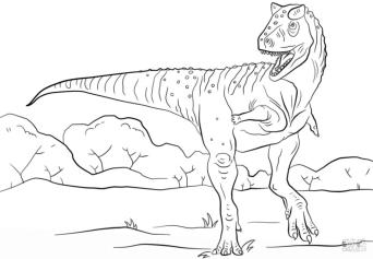 Jurassic World Coloring Pages Carnotaurus 3crn