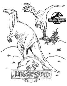 Jurassic World Coloring Pages Free 8fre