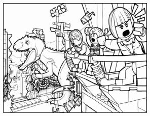 Jurassic World Coloring Pages Lego Free 0jlg