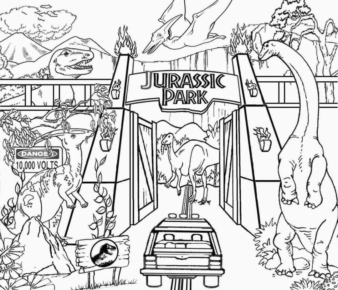 Jurassic World Coloring Pages Online 4oln
