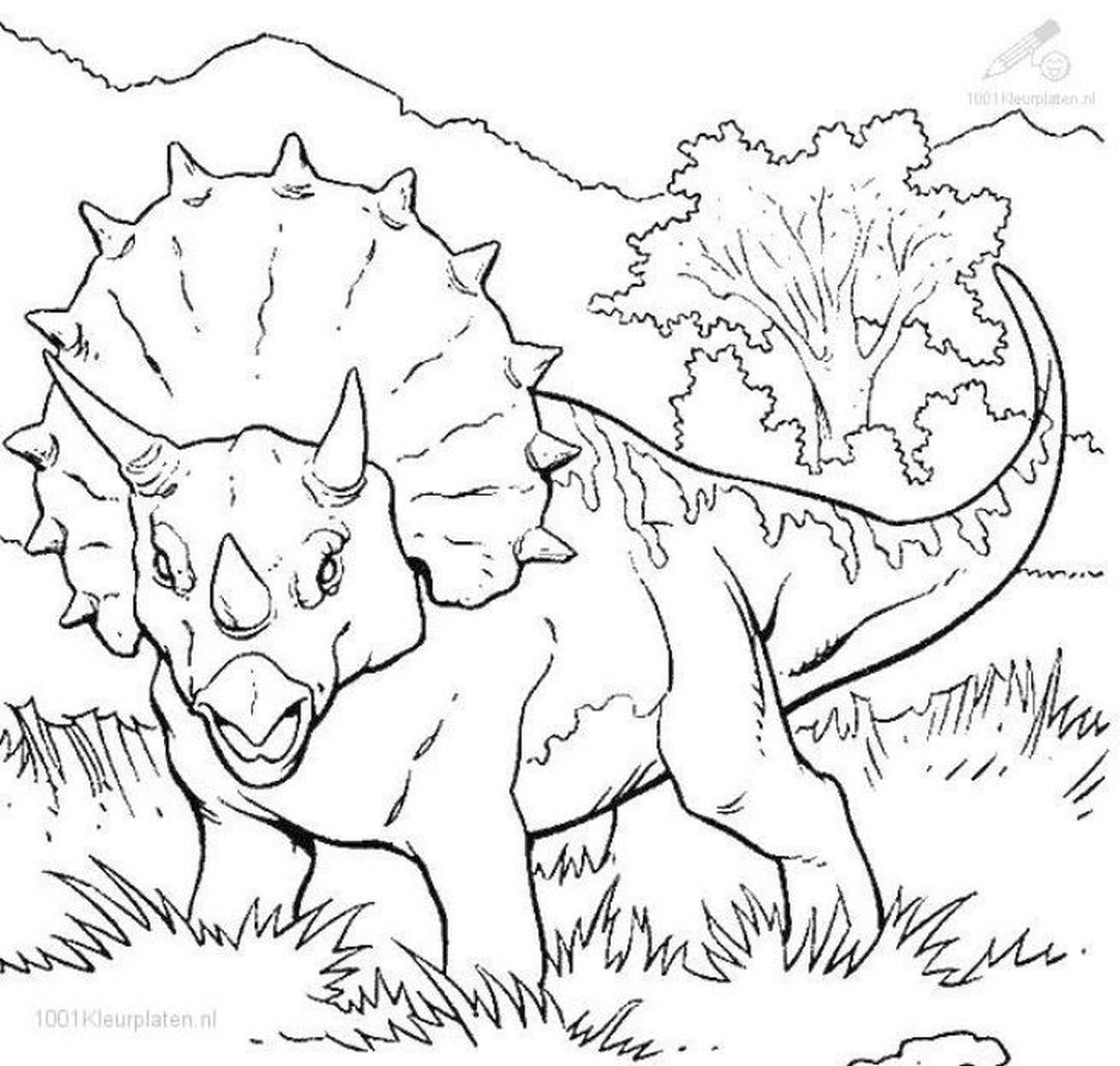 Jurassic World Coloring Pages Triceratops Printable 8trt